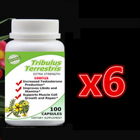 6 Bottle 600pcs Tribulus Terrestris Complex Extract With Saponins Increase Man S T Level Support Muscle