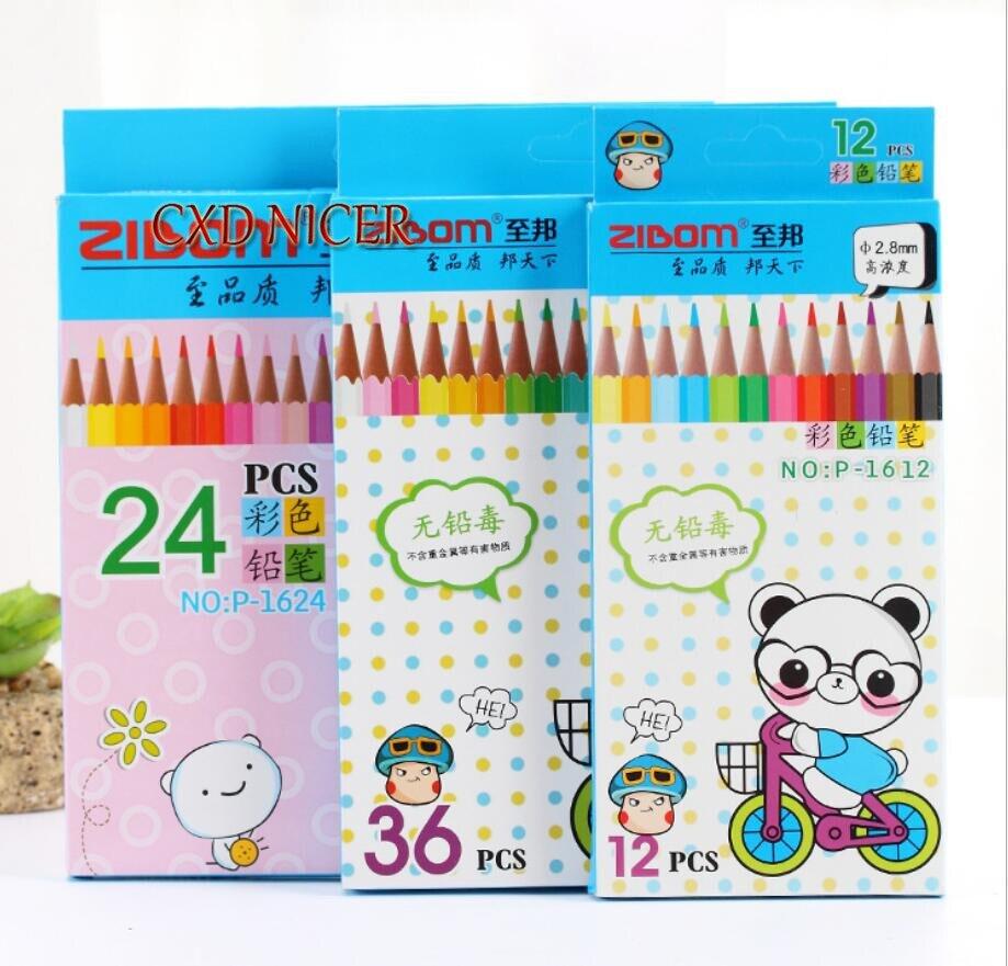 Secret Garden Coloring Book School Drawing 12 24 36 Colors Clored ...