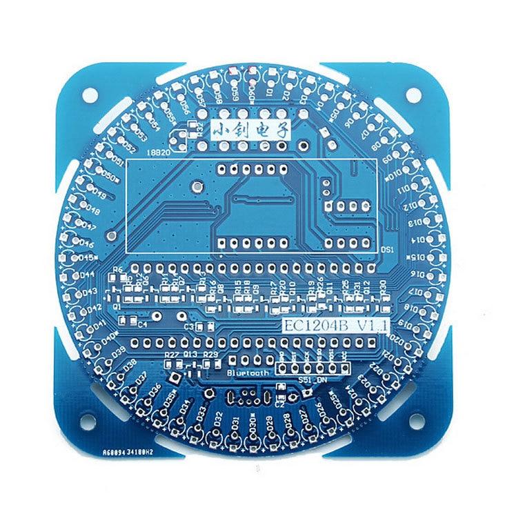 DS1302 Elektronik Bausatz LED Digital Uhr Temperatur DIY Kit Rund Rotation Set