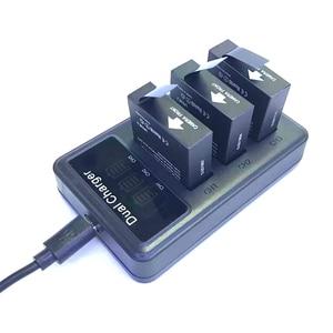 Image 5 - Mới SJCAM 3 USB 3 Khe Cắm Sạc Pin LCD Dugl Sạc Dành Cho Sj6 Truyền Thuyết/Sj7 Sao/Sj8 pro Plus Không Hành Động Phụ Kiện