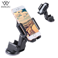XMXCZKJ Universal Car Phone Mount Stand 360 Degree Rotating Windshield Dashboard Car Phone Holder For GPS