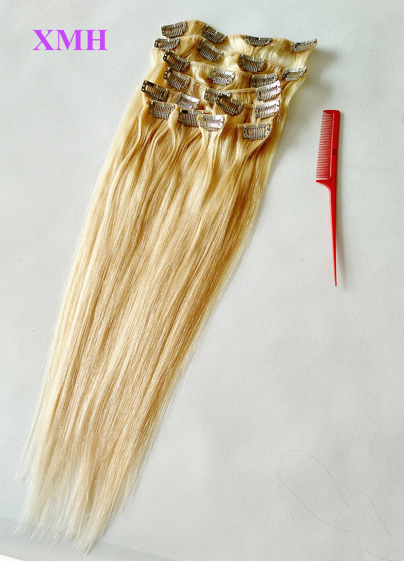 BLONDE CLIP IN HAIR EXTNEIONS 110G HAIR EXTENSIONS