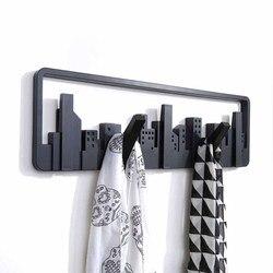 Черный европейском стиле крючки мода сад творческий стены крюк после двери вешалка несколько крючков