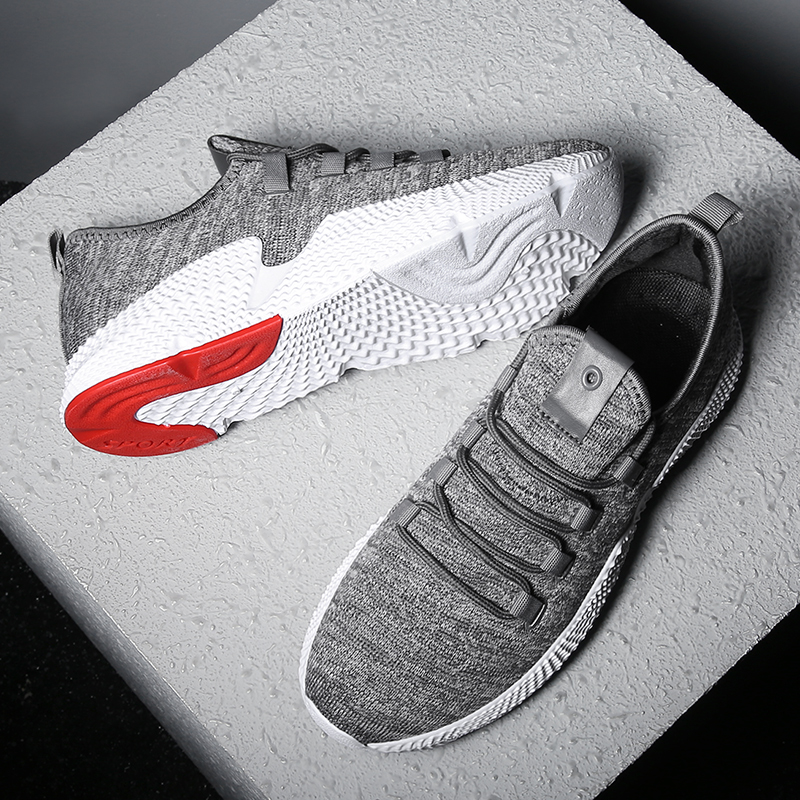 Hemmyi Non-slip wear breathable mens sneakers 2018 new black gray fashion male shoes chaussure homme tenis masculino adulto