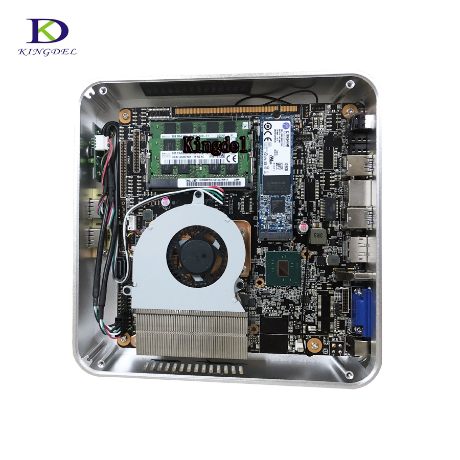 Free Shipping With HDMI VGA DP Small Fan Mini PC Core <font><b>i7</b></font> 7700HQ <font><b>6700HQ</b></font> i5 6300HQ Mirco Nettop Computer 32G DDR4 Desktop mini pc image