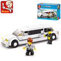 B0323 135pcs Sluban Lincoln luxury limousine building blocks Kids educational Bricks toys Compatible with lege