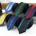 Bolo Corbata Para Los Hombres Diseñadores 6 cm Marca Posicionamiento Personalizado Raya Jacquard de Poliéster Corbata Gravata corbatas Para Hombre