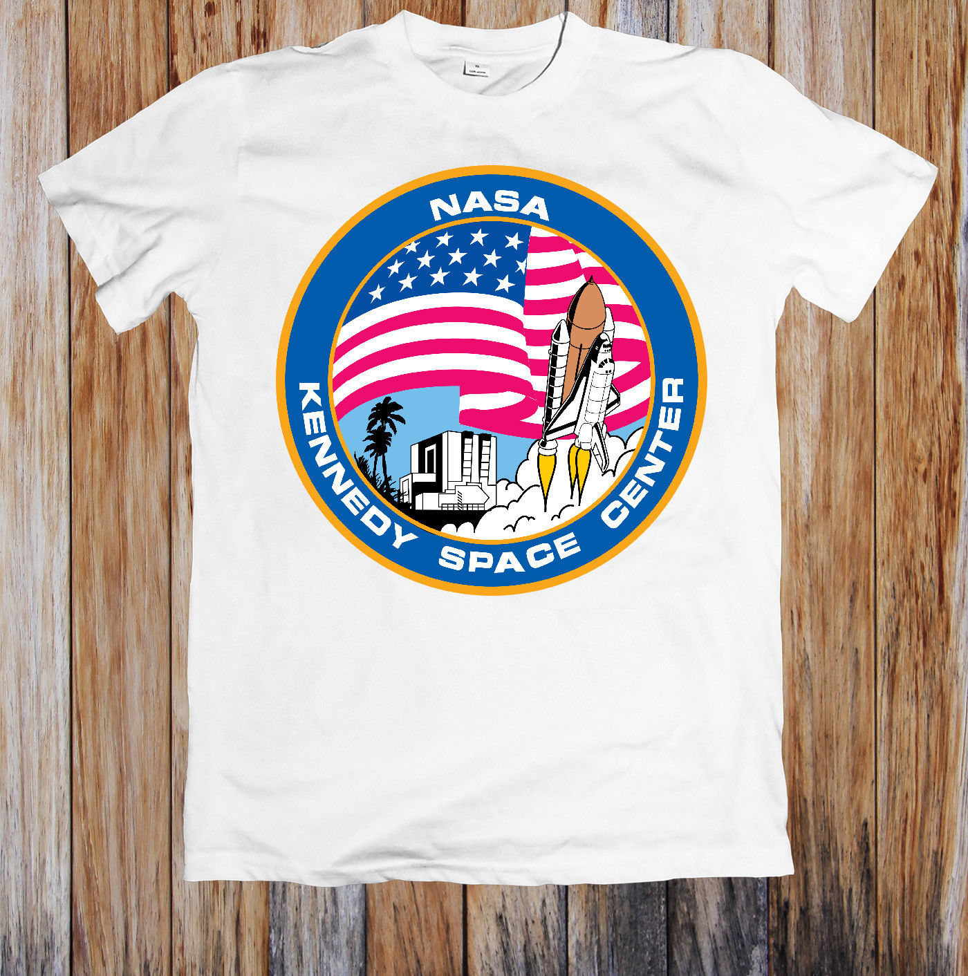 NASA KENNEDY SPACE CENTER UNISEX   T  -  SHIRT   Hot Sell 2018 Fashion   T     Shirt   Short Sleeve Tricolor 2018 New Arrival Men'S Fashion