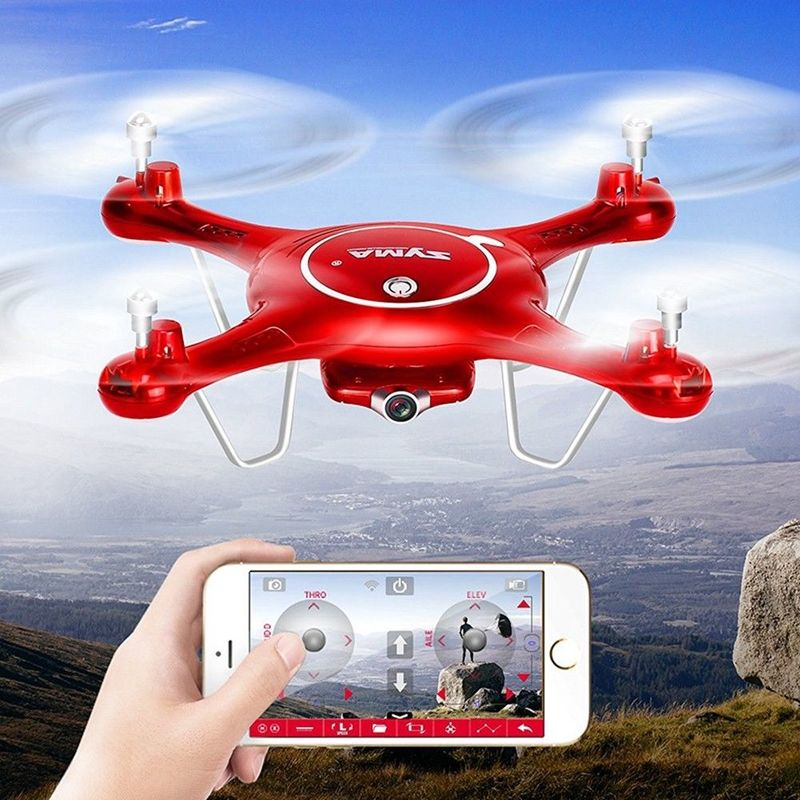 SYMA X5UW Drone With WIFI 720P Camera FPV Real-time Transmission Professional Quadrocopter Toys For Children Boys