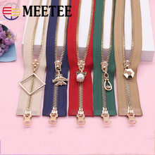 Meetee 5# 85-120cm Double Slider Metal Zipper For Clothing Coat Jacket Handmade DIY Sewing Crafts Hardware Accessories AP546