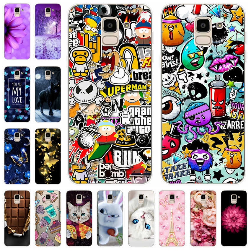 Silicone Cover For Samsung Galaxy J6 2018 Case 5.6' Printing Pattern Phone Cases for Samsung J 6 2018 600 F SM-j600f Funda Coque