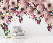 beibehang Custom size wall paper Classic American Hand-painted Stereo Rose Vine Modern Background papel de parede 3d Wallpaper