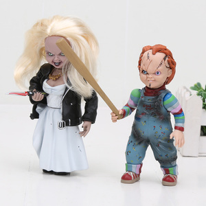 Image 3 - NECA Scary chucky Figure Toys Horror Movies Childs Play Bride of Chucky 1/10 Scale Horror Doll toy