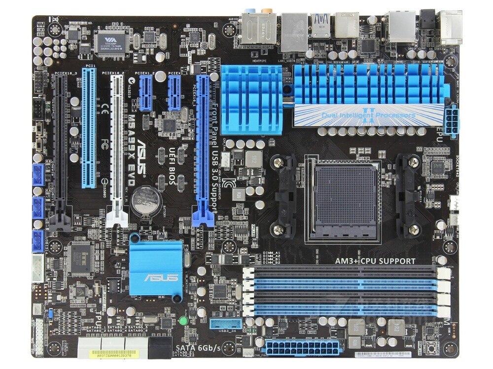 D'origine carte mère pour ASUS M5A99X EVO Prise AM3 + DDR3 USB2.0 USB3.0 32 gb 990X De Bureau carte mère Livraison gratuite