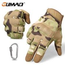 Спортивные тактические Военная перчатки армия с сенсорным для велстрайкбол осипеда Мужские туризма скалолазанья