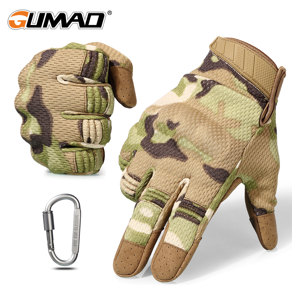 Touch Screen Multicam Camouflage Tactical Gloves Army Military Airsoft Outdoor Climbing Shooting Paintball Full Finger Gloves