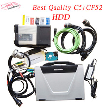 2017 Best MB C5 Star Diagnosis with CF52 Laptop and 2017.7 HDD Software wireless for Car and Trucks Multi-Language DHL Free Ship
