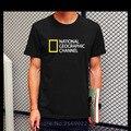 Más el Tamaño XS-XXL de NATIONAL GEOGRAPHIC CHANNEL uniforme camiseta de manga corta streetwear Impreso algodón de los hombres cómodo jersey tee