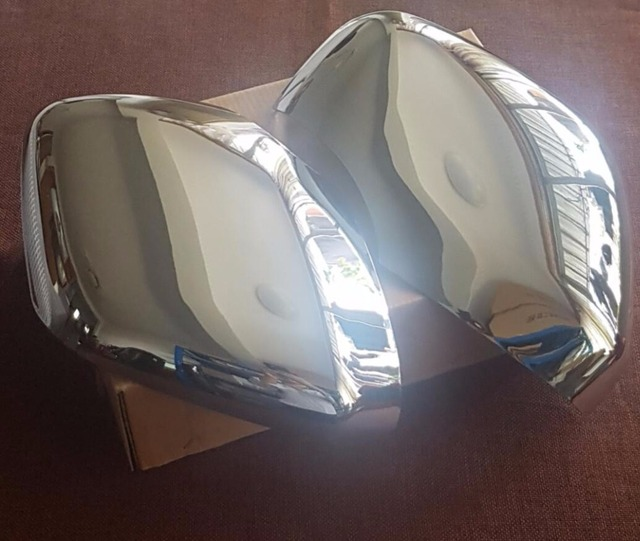 2x Chrome Silver Mirror Replacement Cover Trim For Nissan Patrol 2016 Facelift