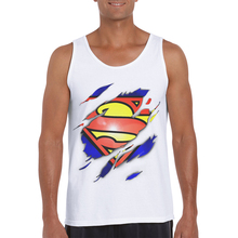2019 New Fashion Funny Design Men Tank Tops Superman 3D Printed Casual Sleeveless Hipster Vest Summer Singlets Man Tanks Clothes