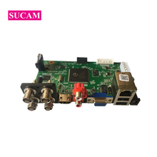 SUCAM 4Channel AHD CCTV Camera DVR System Surveillance Digital Video Recorder Board for 1080P AHD TVI CVI IP Cameras