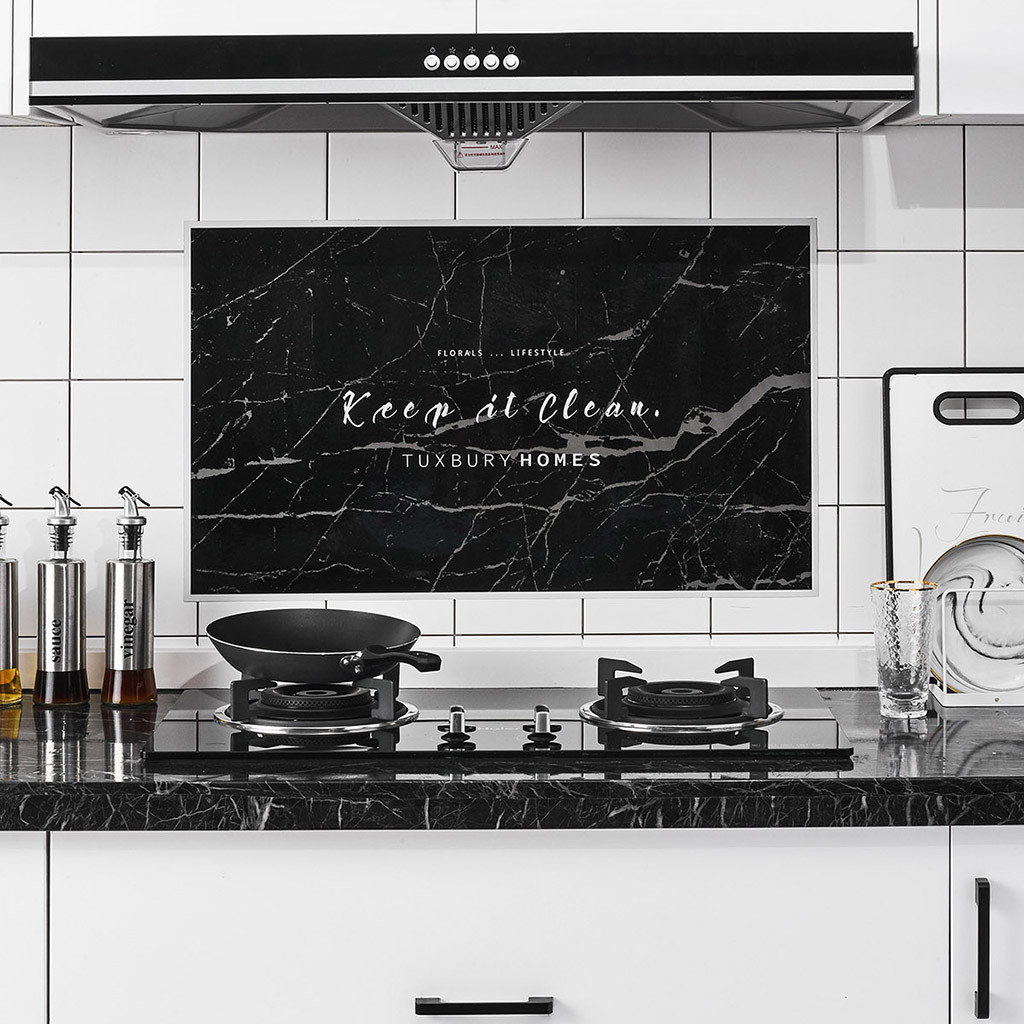 Wall Tile Stickers Home Decor Kitchen Plane Foil Oil Sticker Decal Practical
