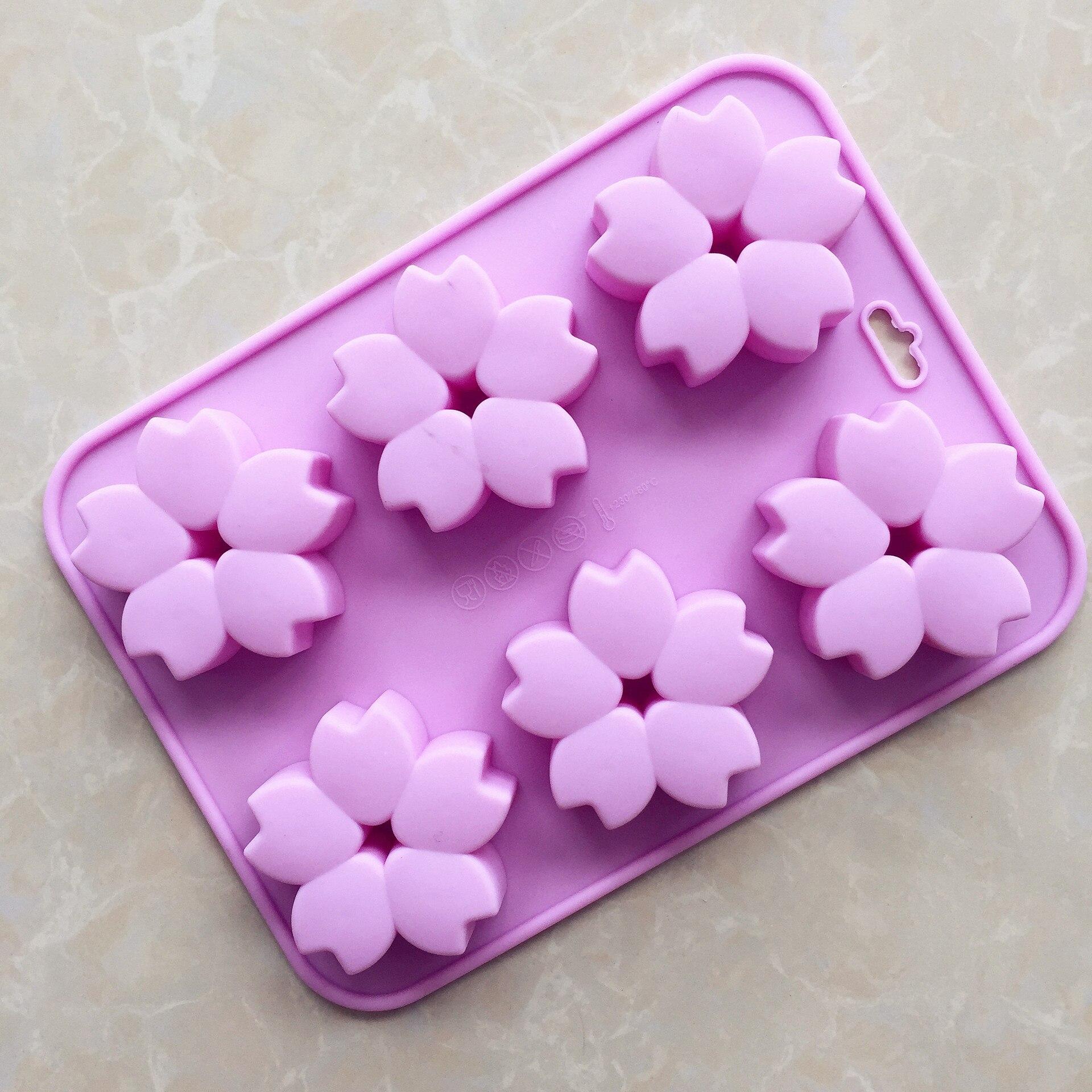 Flower Shape silicone cake mold aromatherapy gypsum pendant Craft Soap Making Molds