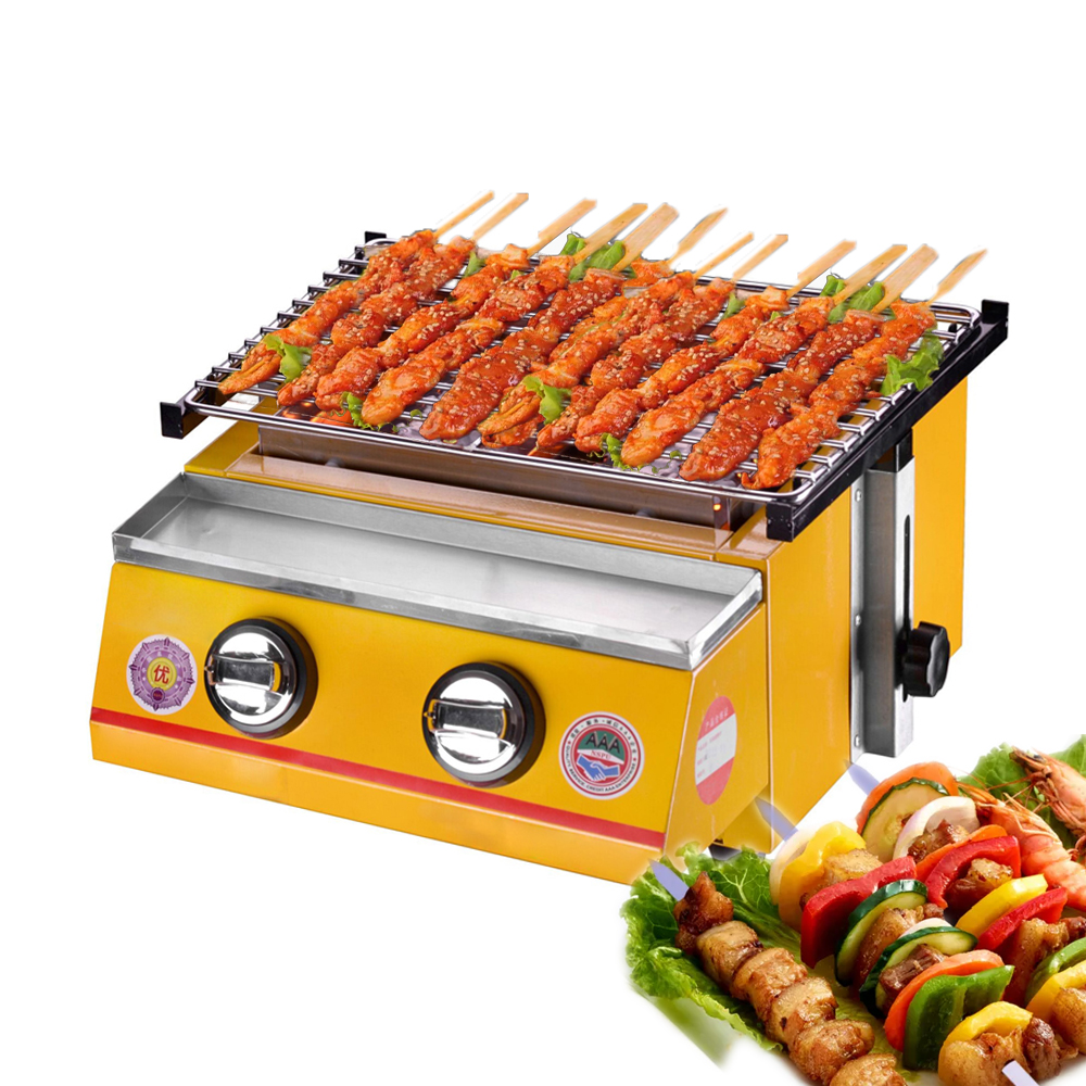 ITOP Gas BBQ Grills 2 Burners LPG Griddles Barbecue Tools For Outdoor Camping Picnic Use Smokeless BBQ Grills