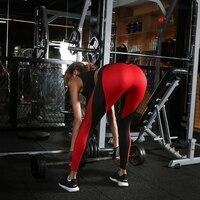 Hot New Design Sexy Yoga Pants Black Red Stitching Women Yoga Pants High Elastic Fitness Sport