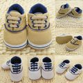 New Infant Baby Soft Sole Crib Shoes Lace Up Sneaker Prewalker Shoes White 0-18M