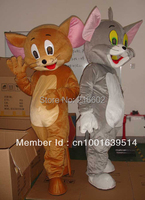 Jerry Mouse&Tom Cat costume/Cartoon Costumes/halloween/Mouse&Tom Cosplay/Christmas party mascot