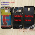 100% Original For huawei D1 U9500 Black front frame middle frame Back Cover Back Battery Housing Door with POWER button