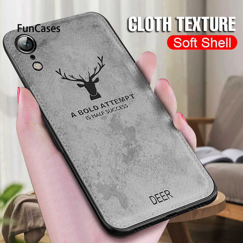 Luxury Cloth Soft Shockproof Case On The For IPhone XR X XS Max 8 7 6 6s Plus Phone Case Cover For IPhone XR X XS Max Back Case