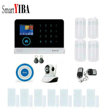 SmartYIBA Wifi Wireless GSM SMS RFID Security Alarm System Wireless Siren Video IP Camera APP Remote Control Russian Italy Voice