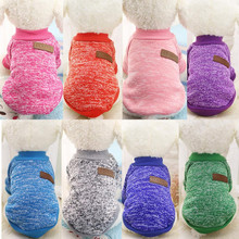 ISHOWTIENDA Warm Dog Hoodies for small dog Pet Clothing Winter Puppy Classic Fleece Sweater Clothes 2018 Dropshipping