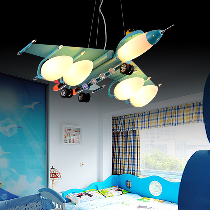 Led Pendant lights Airplane with 3-5 Bulbs for Kids Children Room Bedroom  Modern Pendant lamp Creative Christmas Gift for Child