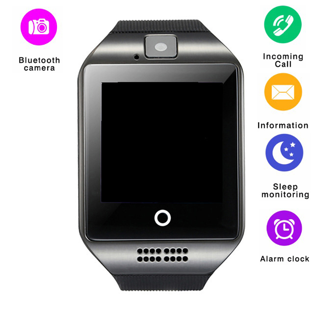 Smart Watch Q18 Smartwatch Bluetooth Phone Clock Touch Screen Camera Support SIM Card Fitness Tracker WristWatch for IOS Android