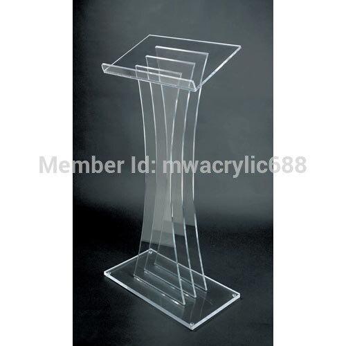 Pulpit Furniture Free Shipping High Quality Fruit Setting Modern Design Cheap Acrylic Lectern Acrylic Podium