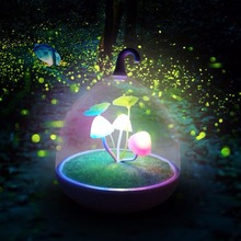 OCDAY Colorful LED Mushroom Lamp Glowing in the dark Touch Sensor Night Lamps Sleeping Ball Light Up Toys For Children Gift 0.5W