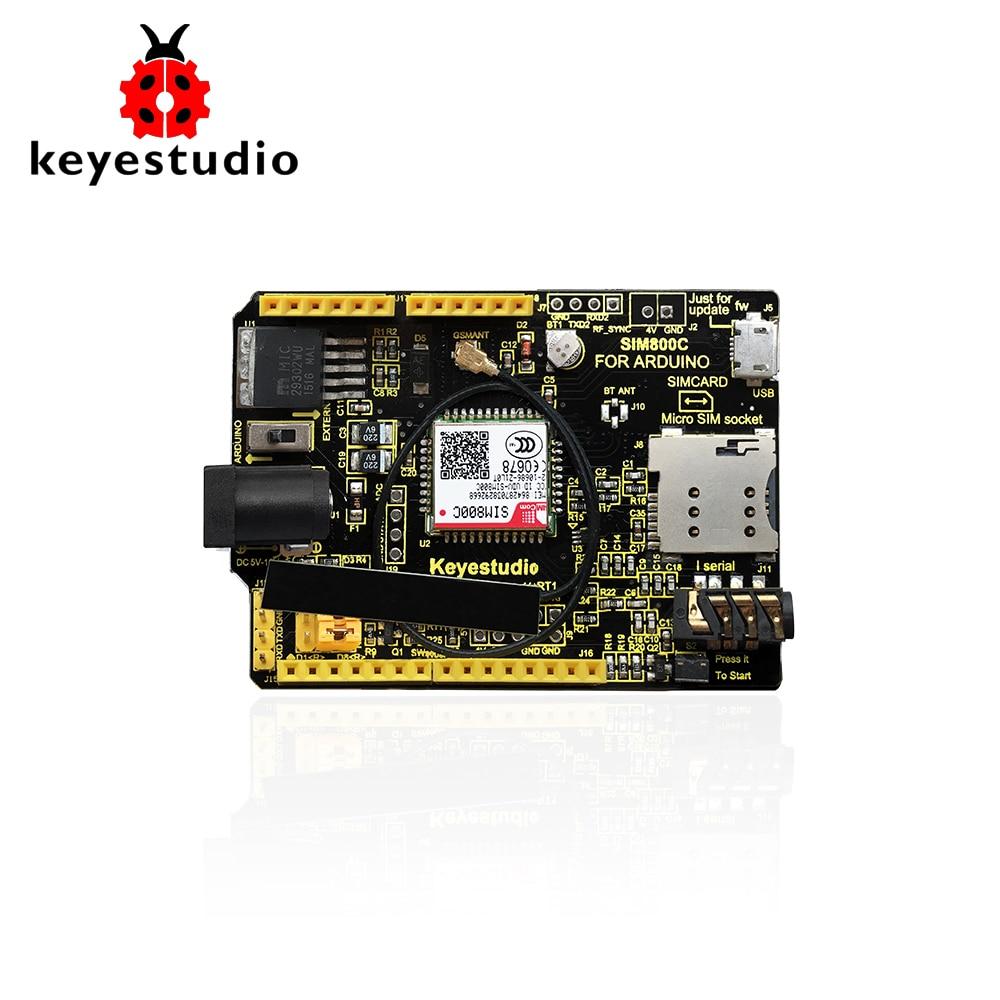 připojení modulu gsm k arduino mega 2560 - Keyestudio SIM800C Shield for Arduino UNO R3 and Mega 2560 GPRS GSM