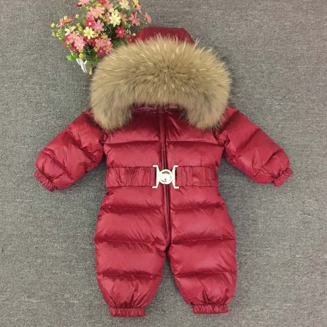 135642e00 Online Shop 0-4 Years Thick Kids Snowsuit Toddler Boys Girls Winter ...