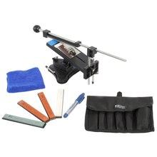 Versão atualizada fixo ângulo apontador de faca de cozinha profissional sharpener kits sistema 4 pedras de afiação