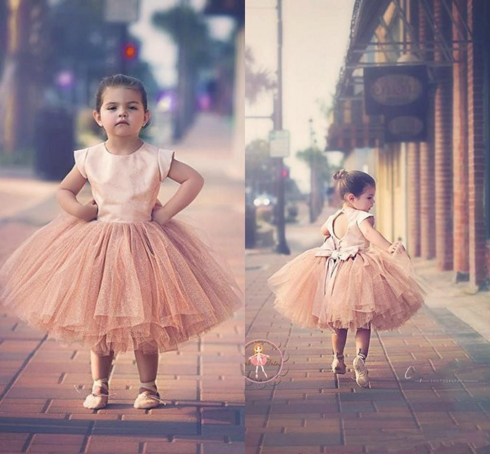 2016 moda joya cuello manga corta flor vestidos para niñas lindo de ...