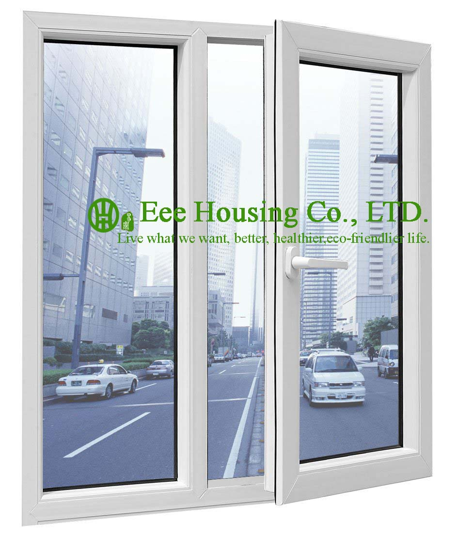 Outward Upvc Casement Window With Double Glazing, Swing Vinyl Casement Window, Heat And Sound Insulation Casement Window