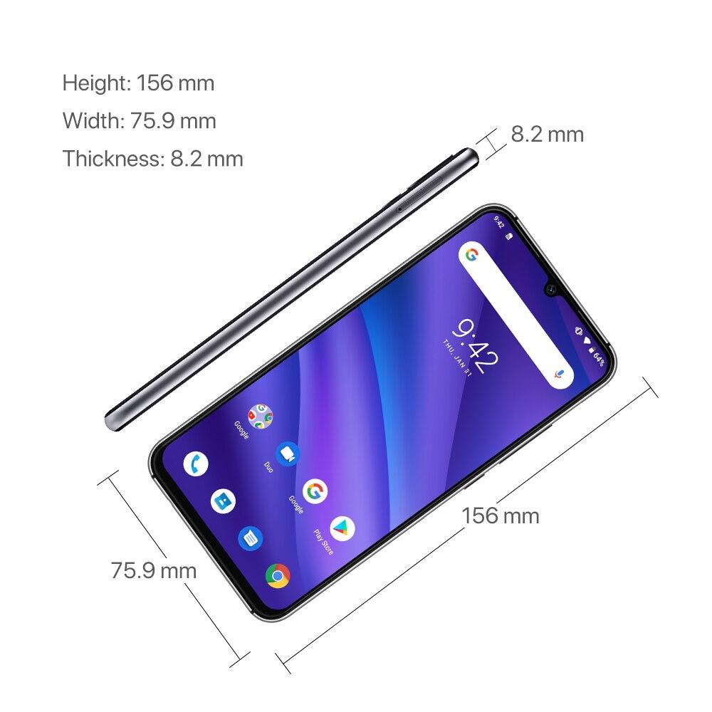 Version mondiale UMIDIGI A5 PRO Android 9.0 Octa Core 6.3 'FHD + Waterdrop 16MP Triple caméra 4150mAh 4GB RAM 4G Smartphone celulaire - 5