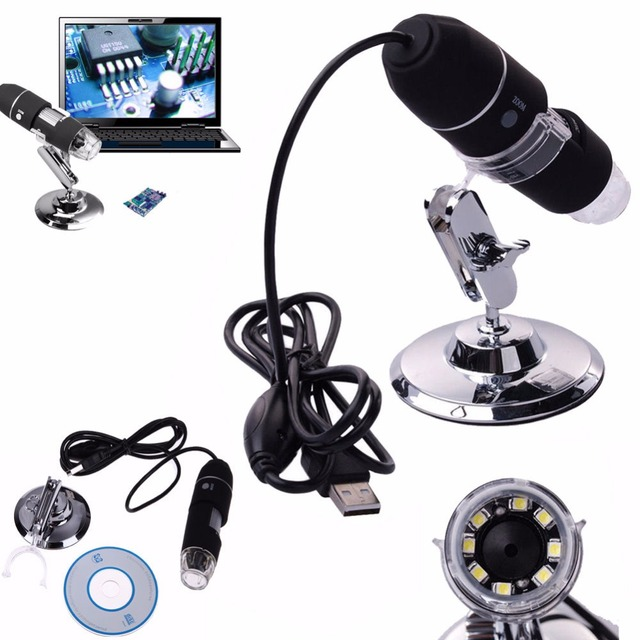 50x to 500x Digital USB Microscope for Window System 2MP 8 LED Tripod Base Mini Camcorder LED Children Electronic Mac