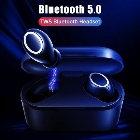 VOULAO Wireless Headphone Bluetooth V5.0 Earphones TWS In-Ear Handsfree Headset Sport Earbuds For IOS Android With Charging Case Multan
