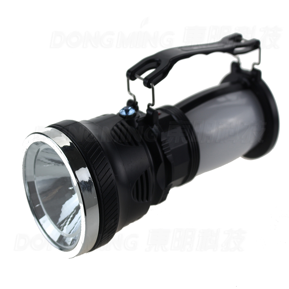 Rechargeable Camping Flashlight Portable Torch Lamp with Handle for Outdoors