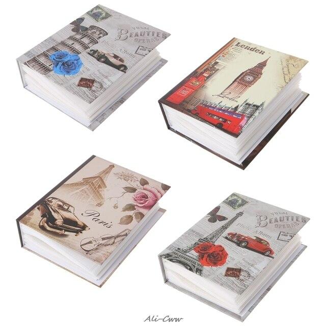 Oferta 100 fotos bolsillos álbum fotos intersticiales fotos libro caso chico álbum almacenamiento familia boda memoria regalo