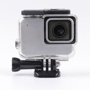 Image 5 - Boîtier de protection squelette boîtier ouverture latérale & porte arrière avec trou avec verre dobjectif pour GoPro Hero 7 accessoires argent blanc